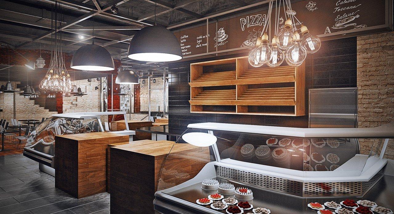 Дизайн кафе в стиле лофт